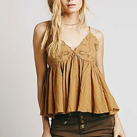 Free People Womens Strappy Cutwork Swing Tank