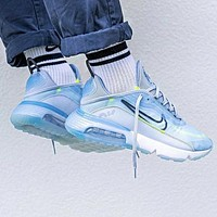 Nike Air Max 2090 Popular Women Men Breathable Sport Running Shoes Sneakers Grey&Blue