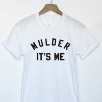 X-Files Mulder It's Me Shirt in White for Women