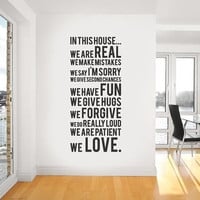Vinyl Wall Sticker Decal In this house we do by urbanwalls on Etsy