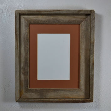 8x10 rustic reclaimed wood photo frame