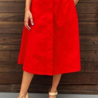 Thank Me Later Skirt: Red