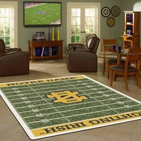 Notre Dame University Football Field Rug