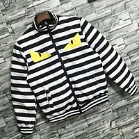 Fendi Autumn And Winter New Fashion Eye Print Stripe Keep Warm Women Men Long Sleeve Top Coat