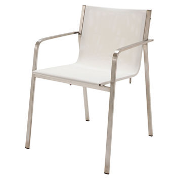 Apex Arm Chair, White, Outdoor Dining Chairs
