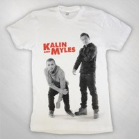 Kalin and Myles - KAM white T [KAMB1002]: Now Just $25.00