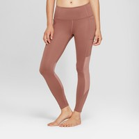 Women's Comfort 7/8 High-Waisted Leggings with Mesh Panel and Side Pockets - JoyLab™