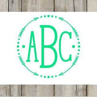 Arrow Monogram Decal for Yeti's, Cars, Laptops, and More!