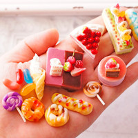 20pcs Clay Food Kawaii Sweets Deco, Air Dry Clay, Deco Parts Assortment, Fake Sweets Parts set 20pcs/ スイーツデコパーツ20個入り/ バラエティーパック (H189)