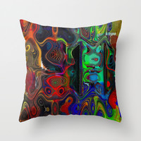 The Gathering Throw Pillow by Amanda Moore - Fractal Insanity