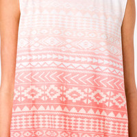Ombré Tribal Print Muscle Tee