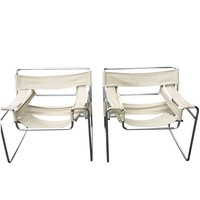Pre-owned 1960s Marcel Breuer Wassily Chairs - A Pair