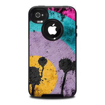 The Colorful Grunge Target Skin for the iPhone 4-4s OtterBox Commuter Case