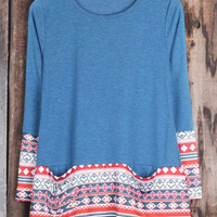 Cupshe Find Your Edge Ethnic Printing Long Top