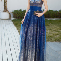 Elegant Strapless High Waist Party Dress