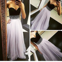 Two Colored Prom Dress, Prom Dresses, Graduation Party Dresses, Formal Dress For Teens, BPD0095