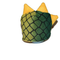 Dragon/ Dinosaur Fleece Hat with Plushie Spikes, Size 3 to 5 Year...Charcoal with Teal Spikes, Fall and Winter Hat... Ready to Ship