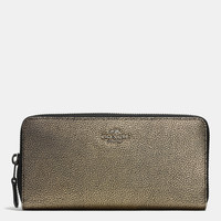 ACCORDIONzip walletin metallic leather