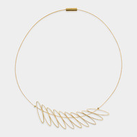Askew Leaves Necklace