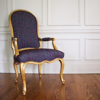 French Gilt Tweed Chair