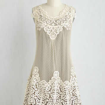 Boho, Vintage Inspired, 20s, French Mid-length Sleeveless Tent Dreams and Sugar Dress