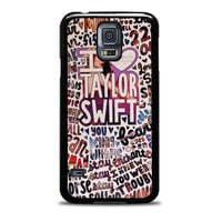 Taylor Swift Song Collage Actrees Samsung Galaxy S5 Case