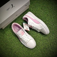 BTS X Puma Court Star White Pink Shoes Women Casual Shoes-1