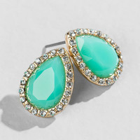 Margo Teardrop Studs In Mint