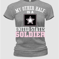 My Other Half- Army Fitted Womens