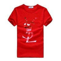 Trendsetter YSL Yves Saint laurent Women Man Fashion Print Sport Shirt Top Tee
