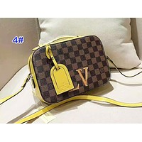 Louis Vuitton Classic color matching checkerboard camera bag small square bag 4#