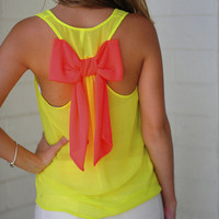 Dreaming Of You Tank: Neon Yellow/Pink | Hope's