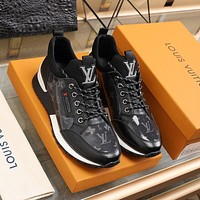 lv louis vuitton men fashion boots fashionable casual leather breathable sneakers running shoes 752