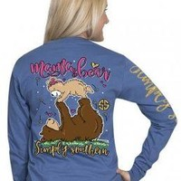 Simply Southern Preppy Collection Mama Bear Long Sleeve T-shirt for Women
