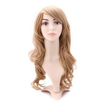 HDE Women's Wavy Fashion Wig Long Curly Hair for Halloween Costumes (Dirty Blonde)