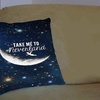 Peter Pan Take Me To Neverland - Pillow Case, Pillow Cover, Custom Pillow Case **