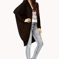 Laid Back Open-Front Cardigan
