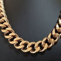 Freedom, Large Chunky Champagne Gold Chain