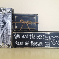 Custom wedding gift decoration black shabby chic black wedding personalized gift with photo home decor picture wedding date happily ever