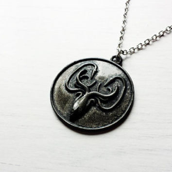 House Greyjoy of Pyke Crest Pendant Necklace - Game of Thrones Cosplay Jewelry - Game of Thrones Jewelry - We Do Not Sow - GoT pendant