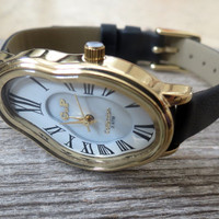 ON SALE 20% OFF Gold Ladies Watch Inspired By Salvador Dali - Leather Accessories - Wrist Watches - Leather Watches - Women's Watches