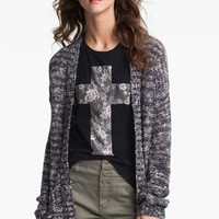 Rubbish® Slouchy Marled Cardigan (Juniors) | Nordstrom