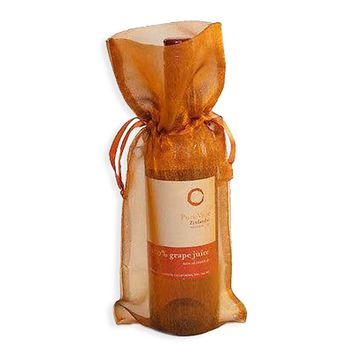 4 Copper Bronze Gold Wine Bag Gift Favor Pouch 6x14 Gift Bags Organza Satin