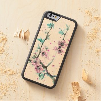 Spring flowers blossoms pink Phone wood case
