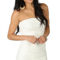 Strapless Glitter Bodycon Dress