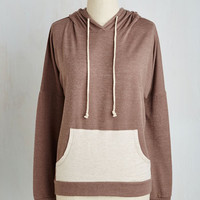 Athletic Mid-length Long Sleeve Contrast, Present, and Future Hoodie
