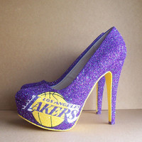 Los Angeles Lakers High Heels by TattooedMary on Etsy