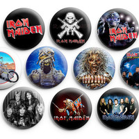 Iron Maiden Pinback Buttons Badge 1.25 inches (Set of 10 ) Eddie Killers NEW