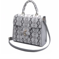 Python Bag Cow Snake Leather Luxury Designer Bag