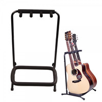 3 Instrument Folding Multiple Holder Rack Stand for Guitar Bass